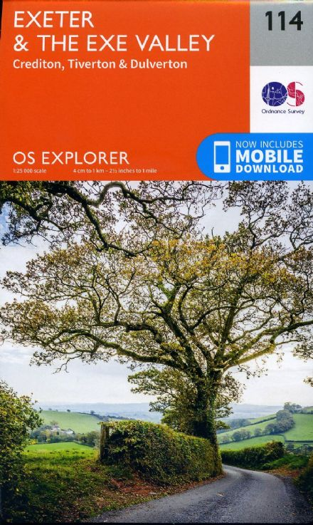 OS Explorer 114 - Exeter & The Exe Valley, Crediton, Tiverton & Dulverton
